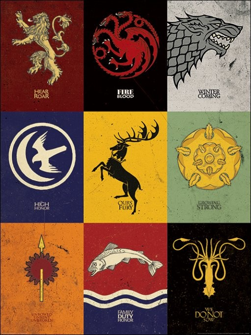 Game of Thrones - Sigils Obrazová reprodukcia