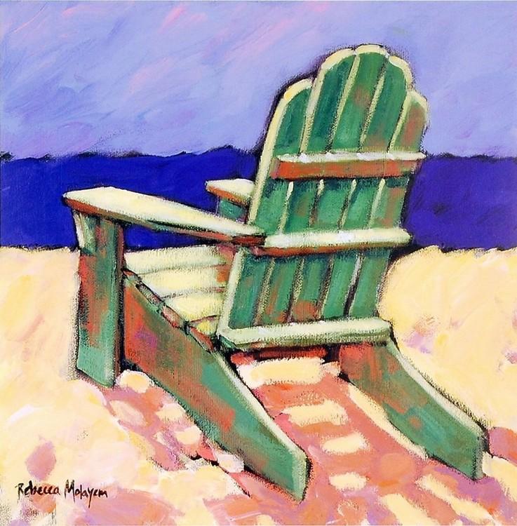 Green Chair Obrazová reprodukcia
