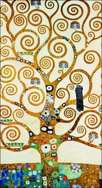 Gustav Klimt - Albero Della Vita Obrazová reprodukcia