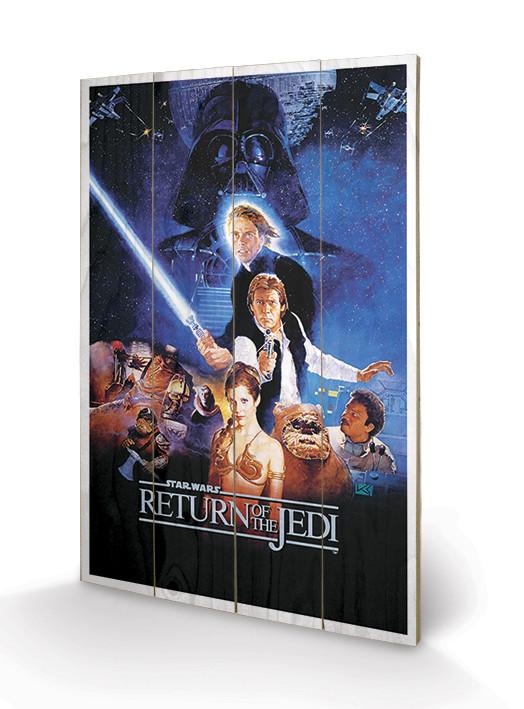 Obraz na drewnie Gwiezdne wojny: Return Of The Jedi - One Sheet