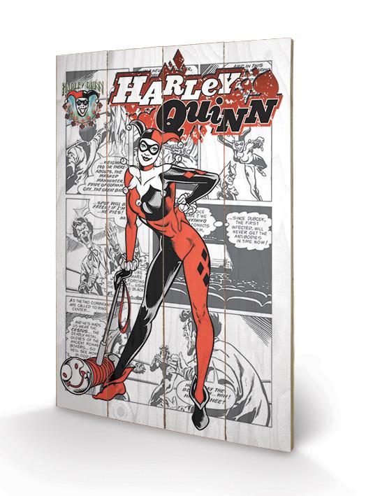 Obraz na drewnie Harley Quinn - aka Dr. Harleen Francis Quinzel