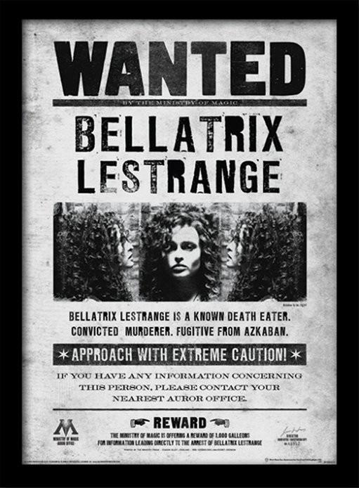 Harry Potter - Bellatrix Wanted zarámovaný plakát