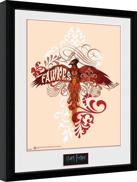 Harry Potter - Fawkes zarámovaný plakát