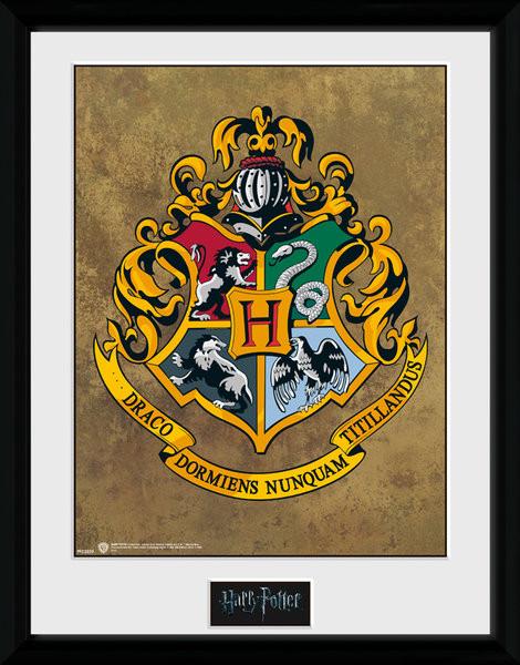 Harry Potter - Hogwarts zarámovaný plakát