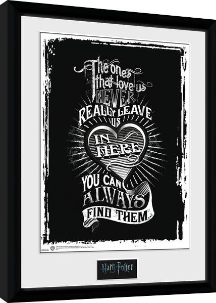 cbe12a4c7 Harry Potter - Love rámovaný obraz na zeď | Posters.cz