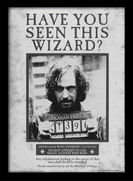 Harry Potter - Sirius Wanted zarámovaný plakát