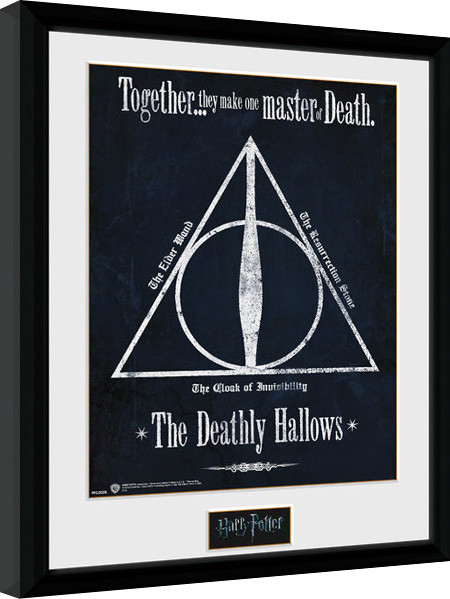 Harry Potter - The Deathly Hallows zarámovaný plakát