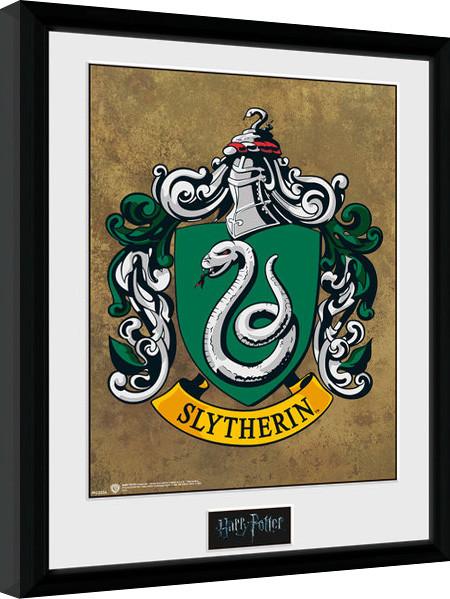 Harry Potter - Zmijozel zarámovaný plakát