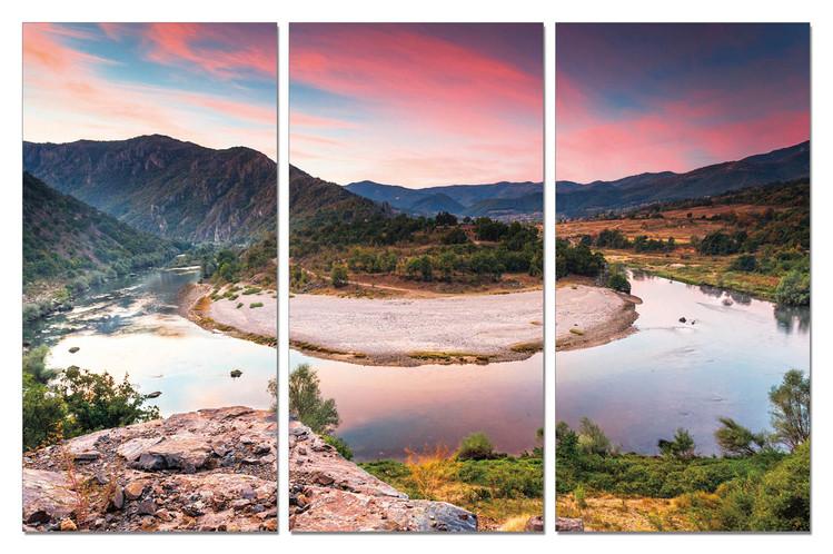 Obraz Horský meandr řeky