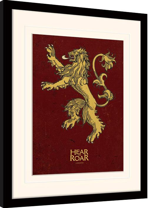Hra o Trůny (Game of Thrones) - Lannister zarámovaný plakát