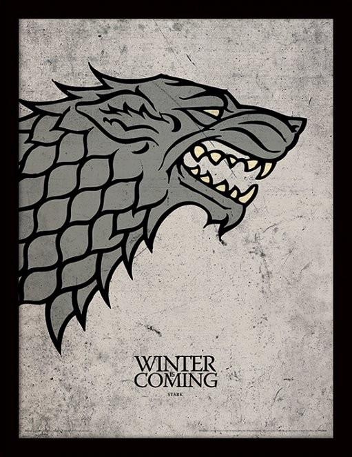 Hra o Trůny (Game of Thrones) - Stark zarámovaný plakát