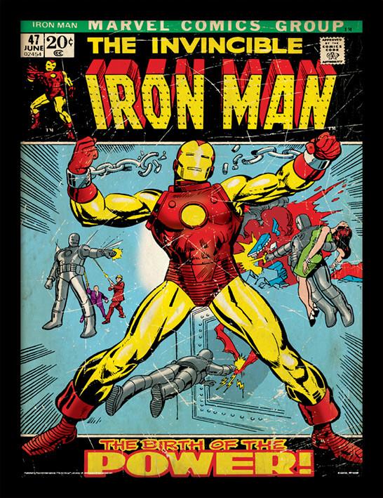 Iron Man - Birth Of Power zarámovaný plakát