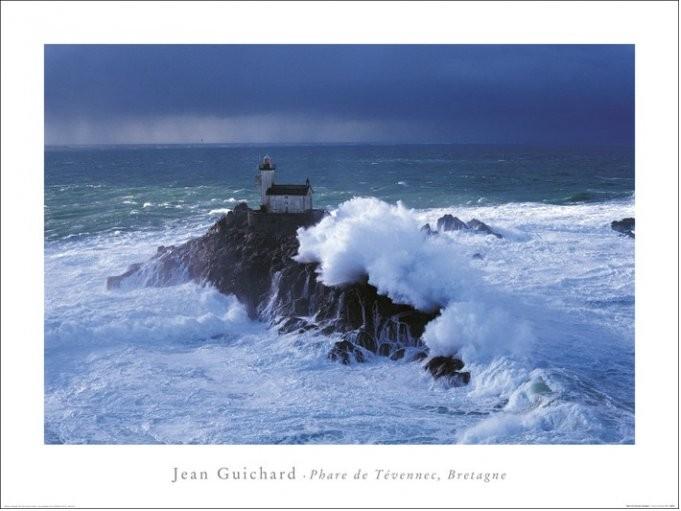 Obrazová reprodukce  Jean Guichard - Phare De Tevennec, Bretagne