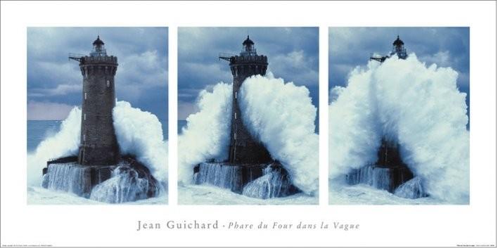 Jean Guichard - Phare Du Four, Bretagne Triptych Obrazová reprodukcia