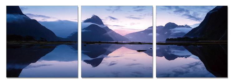 Obraz Jezero v mlžných horách