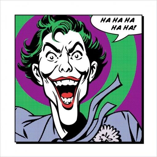 Obrazová reprodukce  Joker - Ha Ha Ha Ha Ha