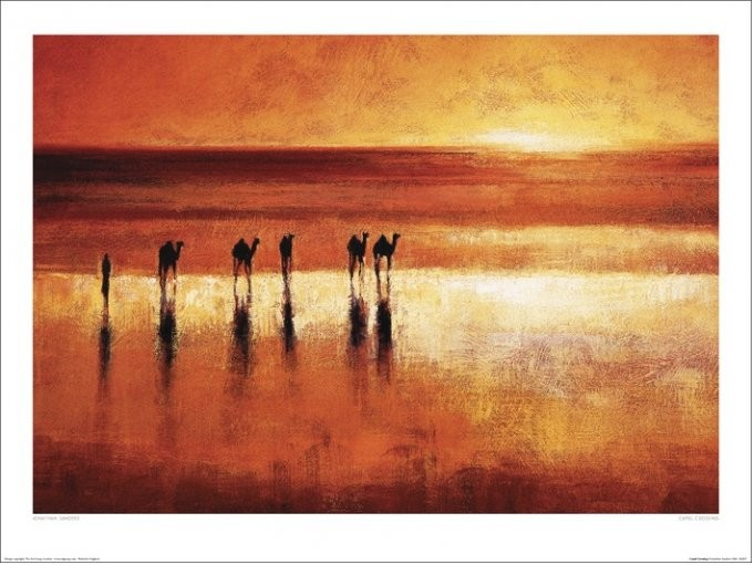 Obrazová reprodukce  Jonathan Sanders - Camel Crossing