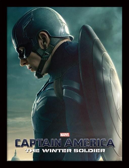 Kapitan Ameryka: Zimowy Żołnierz - Profile oprawiony plakat