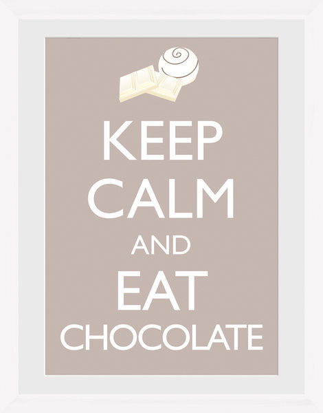 Keep Calm and Eat Chocolate zarámovaný plakát