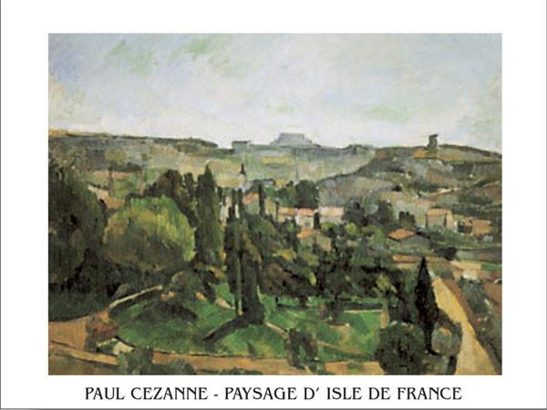 Obrazová reprodukce  Krajina Ile De France