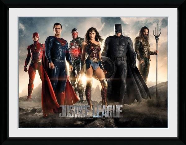 Liga spravedlivých - Characters zarámovaný plakát