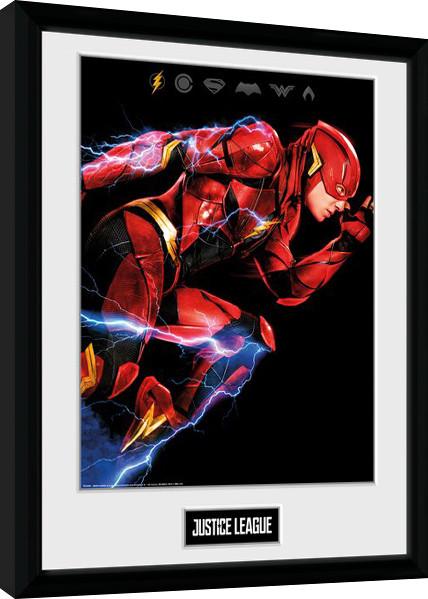 Liga spravedlivých - Movie Flash zarámovaný plakát