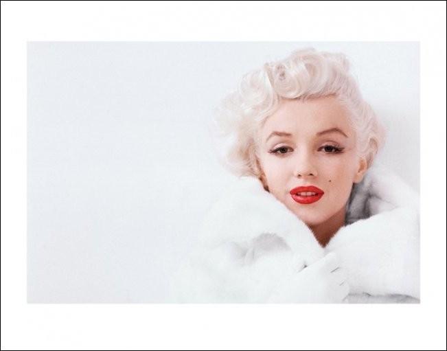 Obrazová reprodukce Marilyn Monroe - White