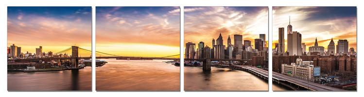 Obraz Město při východu slunce