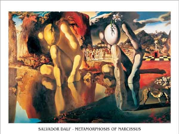 Obrazová reprodukce Metamorfóza Narcise, 1937