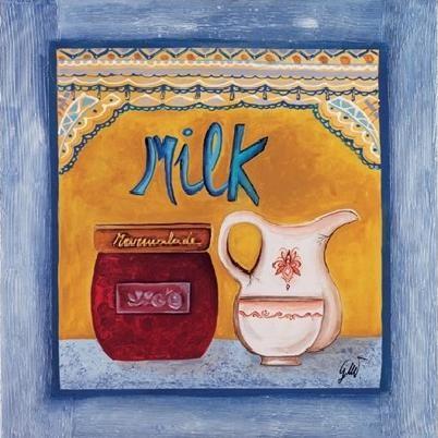 Obrazová reprodukce Mléko