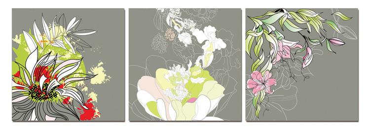 Obraz  Moderní design - barevné květy