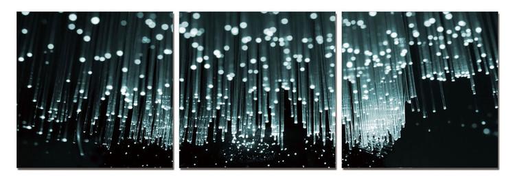 Obraz Moderní design - bílý déšť