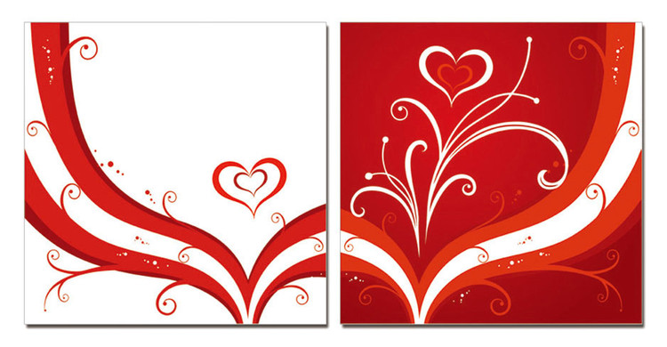 Obraz  Moderní design - srdce