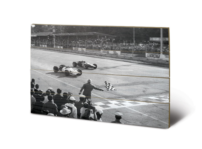 Obraz na drewnie Monaco - Finish (B&W)