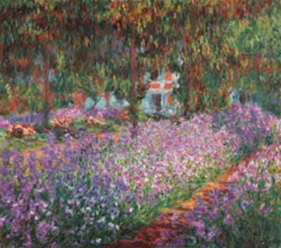 Obrazová reprodukce  Monetova zahrada v Giverny, 1900