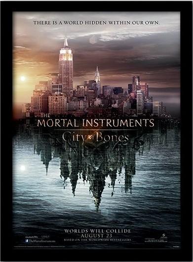 MORTAL INSTRUMENTS : MĚSTO Z KOSTÍ – teaser zarámovaný plakát
