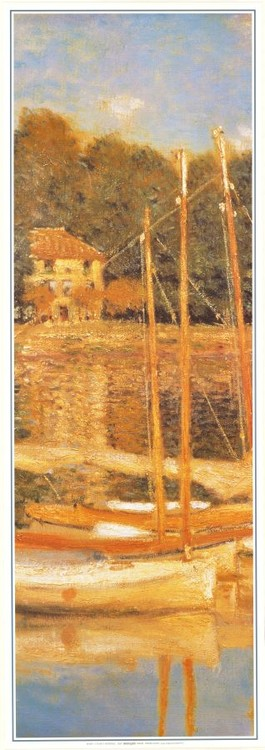 Obrazová reprodukce Most v Argenteuil (část)