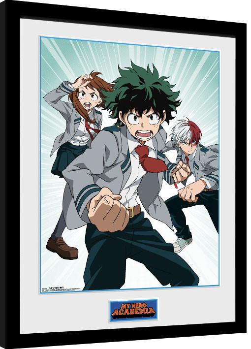 My Hero Academia zarámovaný plakát