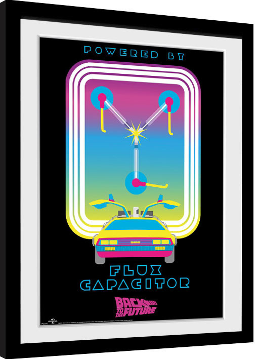 Návrat do budoucnosti - Flux Capacitor zarámovaný plakát