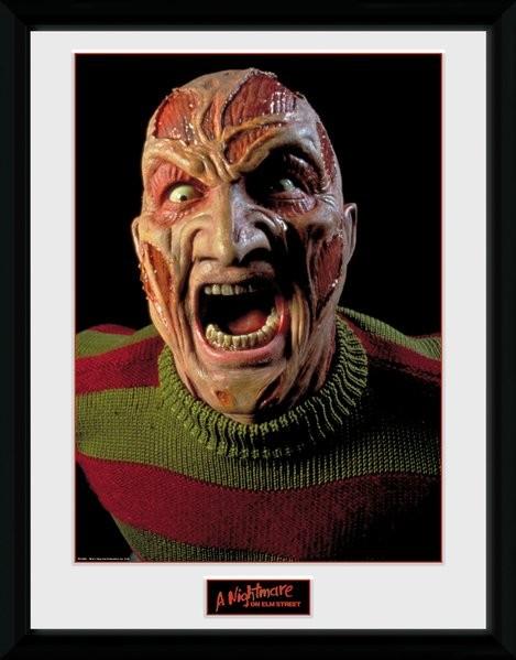 Nightmare On Elm Street - Scream zarámovaný plakát