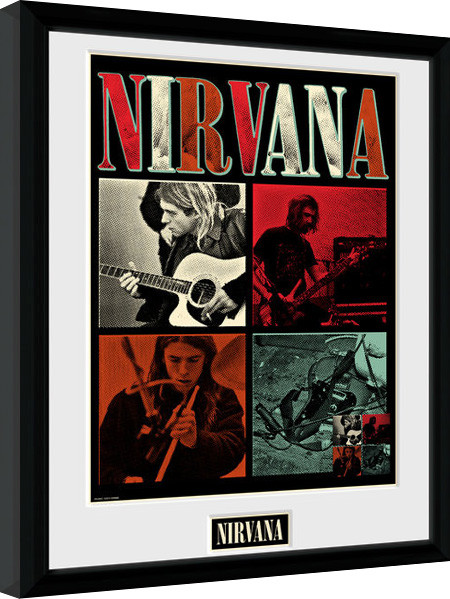 Nirvana - Squares zarámovaný plakát