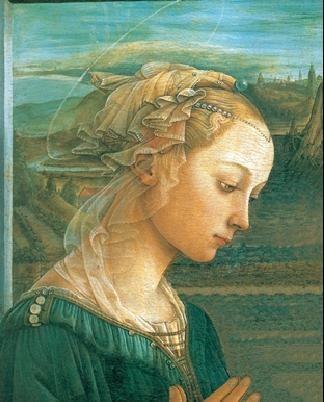 Obrazová reprodukce  Panna s dítětem a dvěma anděly (část)