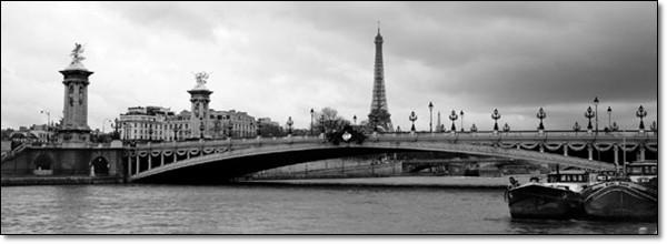 Paříž Most Alexandra Iii S Eiffelovou Věží Obraz Na Zeď