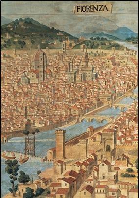 Obrazová reprodukce Pohled na Florencii