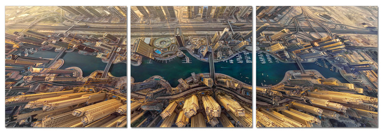 Obraz Pohled z výšky na město