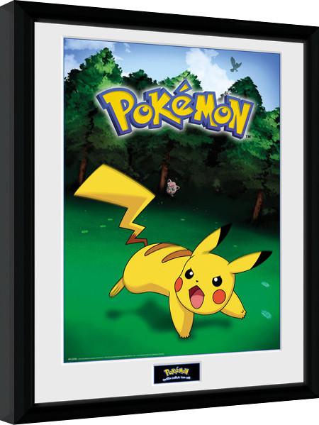 Pokemon - Pikachu Catch zarámovaný plakát