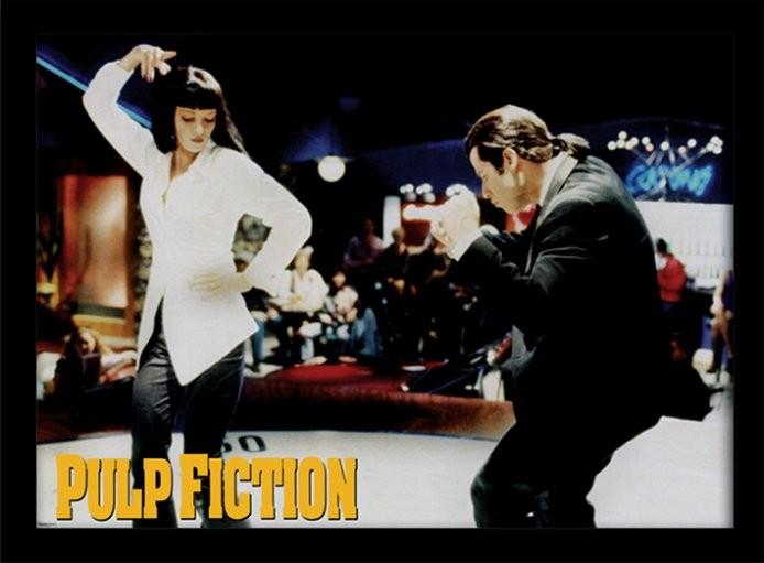 PULP FICTION: HISTORKY Z PODSVĚTÍ - dance zarámovaný plakát