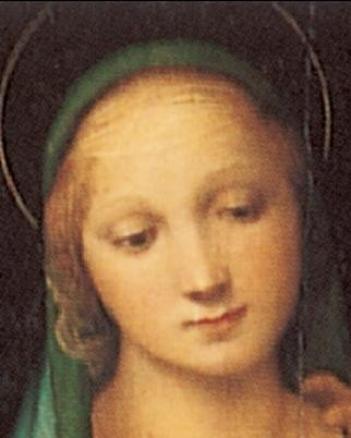 Obrazová reprodukce  Rafael Santi - Madona del Granduca, 1505 (část)