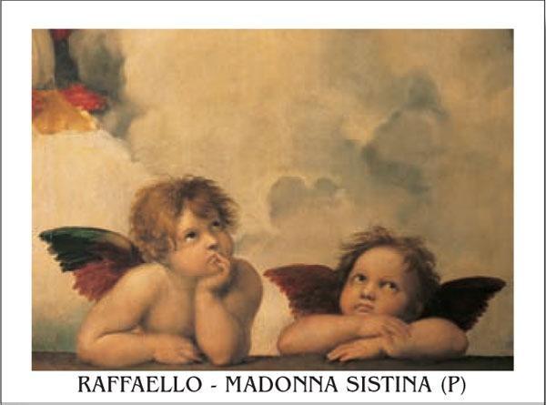 Obrazová reprodukce Rafael Santi - Sixtinská madona, detail – Andělé, 1512