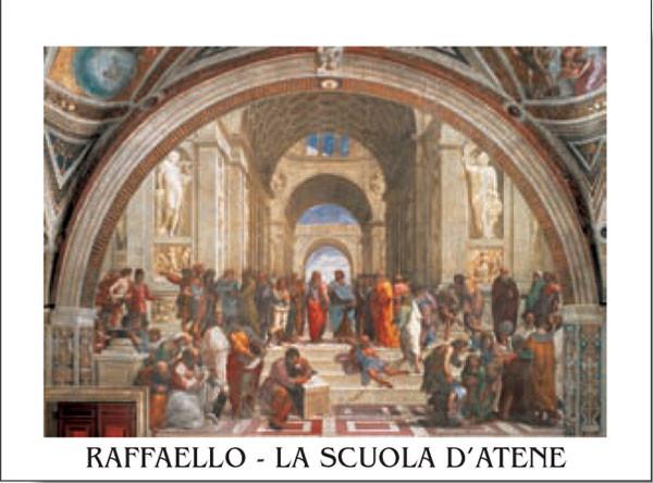 Obrazová reprodukce Rafael Santi - Škola v Aténách, 1509